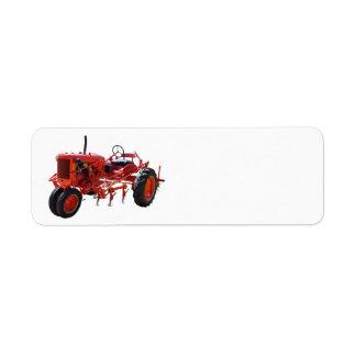 Vintage Red Tractor Label