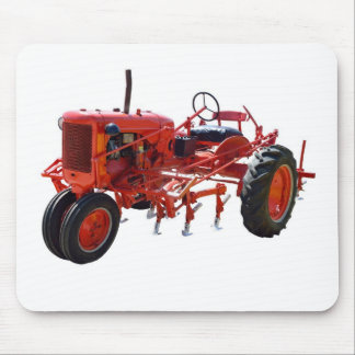 Vintage Red Tractor Mouse Pad