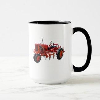 Vintage Red Tractor Mug