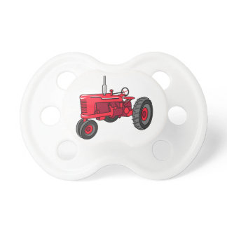 Vintage Red Tractor Pacifier