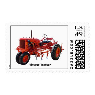 Vintage Red Tractor Postage