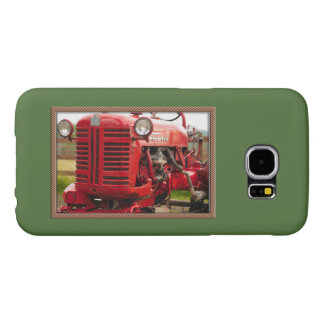 Vintage red tractor samsung galaxy s6 case