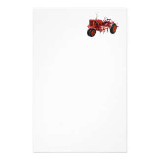 Vintage Red Tractor Stationery