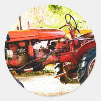 Vintage Red Tractor Sticker