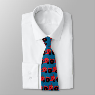 vintage red tractor tie