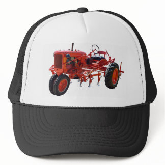 Vintage Red Tractor Trucker Hat