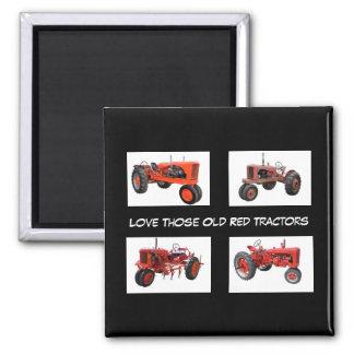 Vintage Red Tractors Magnet