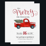 """Vintage Red Truck Christmas Invitation<br><div class=""""desc"""">This vintage red truck theme Christmas invitation is a classic and is perfect for any type of holiday party. Add your custom wording to this design by using the &quot;Edit this design template&quot; boxes on the right hand side of the item, or click the blue &quot;Customize it&quot; button to arrange...</div>"""