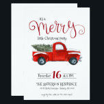 "Vintage Red Truck Christmas Invitation<br><div class=""desc"">This vintage red truck theme Christmas invitation is a classic and is perfect for any type of holiday party. Add your custom wording to this design by using the &quot;Edit this design template&quot; boxes on the right hand side of the item, or click the blue &quot;Customize it&quot; button to arrange...</div>"