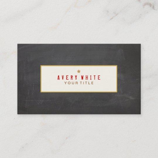 Vintage red typewriter font black chalkboard business card zazzle vintage red typewriter font black chalkboard business card reheart Choice Image