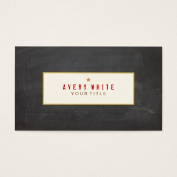 Browse products at zazzle with the theme writers business cards vintage red typewriter font black chalkboard business card colourmoves Images