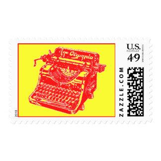 Vintage Red Typewriter Stamps