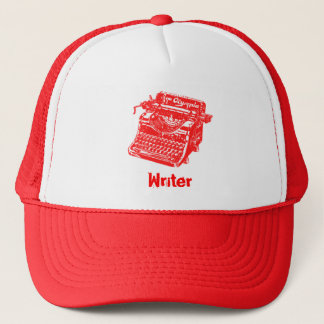 Vintage Red Typewriter Trucker Hat