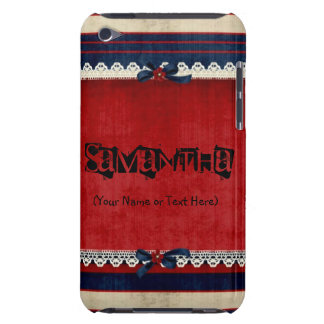 Vintage Red White and Blue iPod Touch Case-Mate Case