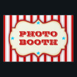 "Vintage Red White Circus Carnival Party Yard Sign<br><div class=""desc"">Fun,  cheery circus striped red,  white and blue yard sign is designed just like an old time circus sign. Perfect for any carnival themed party. Two lines of text can be easily personalized with your own info for use all over your event.</div>"
