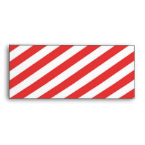 Vintage Red White Girly Stripes Pattern Envelope