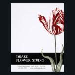 "Vintage Red White Tulip Florist Letterhead<br><div class=""desc"">Gorgeous Antique Red White Tulip Florist Letterhead with stylish text and design. CoutureBusiness&#169; Fully customizable.</div>"