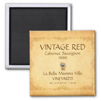 Vintage Red Wine Magnet! Magnet
