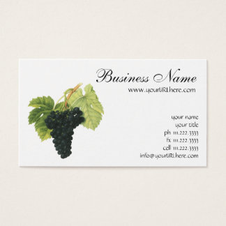 Vintage Red Wine Organic Grape Cluster, Food Fruit Business Card