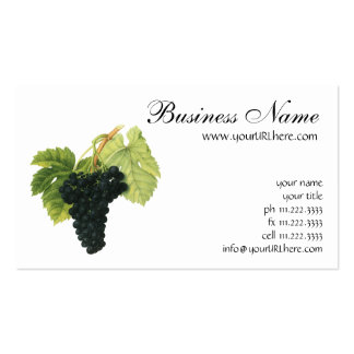Vintage Red Wine Organic Grape Cluster, Food Fruit Double-Sided Standard Business Cards (Pack Of 100)