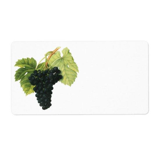 Vintage Red Wine Organic Grape Cluster, Food Fruit Label