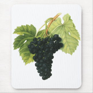 Vintage Red Wine Organic Grape Cluster, Food Fruit Mouse Pad
