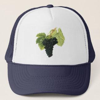 Vintage Red Wine Organic Grape Cluster, Food Fruit Trucker Hat