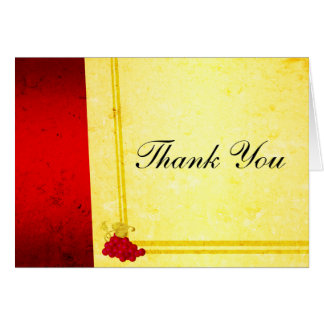 Vintage Red Wine Thank You Card