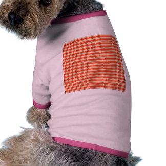 Vintage Red Yellow Chic Stripes Pattern Dog Tee Shirt