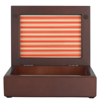 Vintage Red Yellow Chic Stripes Pattern Memory Boxes