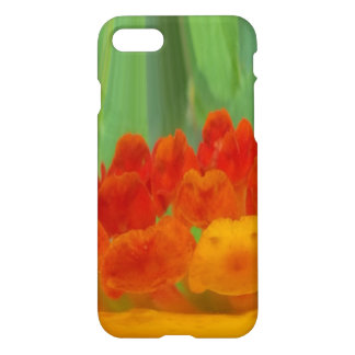 Vintage red yellow orange green floral pattern art iPhone 7 case