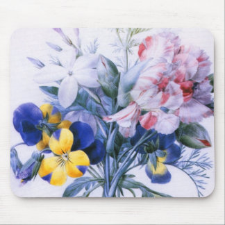 Vintage Redoute Flower Bouquet Mousepad