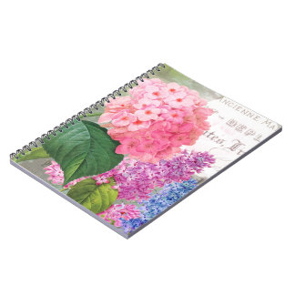 Vintage Redoute Flowers Notebook