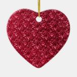 Vintage Reds Heart Ornament