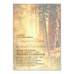 Vintage Redwood Trees Wedding Invitation