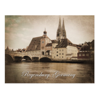 Vintage Regensburg, Germany Postcard