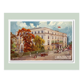 Vintage Regent Hotel Royal Leamington Spa art Postcard