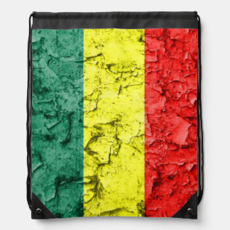 Vintage reggae flag drawstring bag