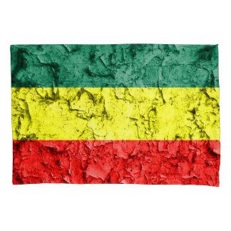 Vintage reggae flag pillowcase