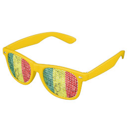 Vintage reggae flag retro sunglasses