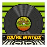 Vintage Reggae Vinyl Record Party Invitations