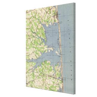 Vintage Rehoboth & Bethany Beach DE Map (1944) Canvas Print