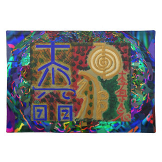 Vintage REIKI Healing Symbols as told by MASTERS Cloth Place Mat