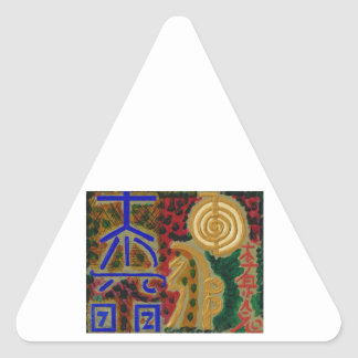 Vintage REIKI Healing Symbols as told by MASTERS Triangle Sticker