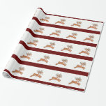 Vintage Reindeer Gift Wrapping Paper