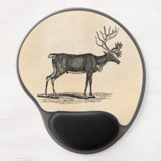 Vintage Reindeer Illustration -1800's Christmas Gel Mouse Mat