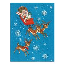 Vintage Reindeer Postcard