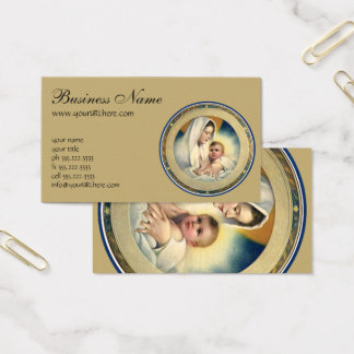 Vintage Relgious Christmas, Madonna and Child Business Card