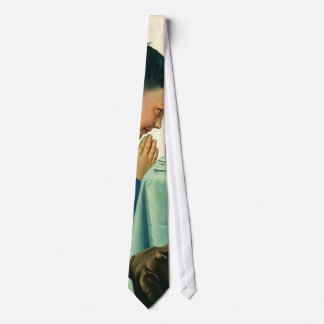 Vintage Religion, Boy Saying Grace at Thanksgiving Neck Tie