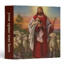 Vintage Religion, Christ the Good Shepherd Flock 3 Ring Binder